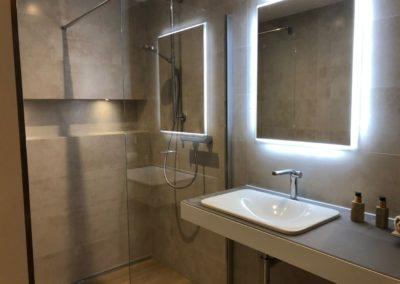 Badezimmer im Saunabereich